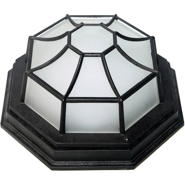 Nuvo Lighting LED Spider Cages LED 5 inch Black Outdoor Cage Fixture