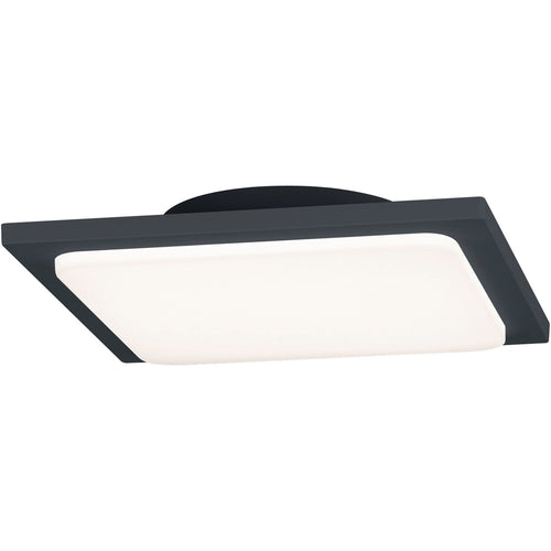 Arnsberg Trave 1 Light 10 inch Dark Grey Outdoor Flush Mount