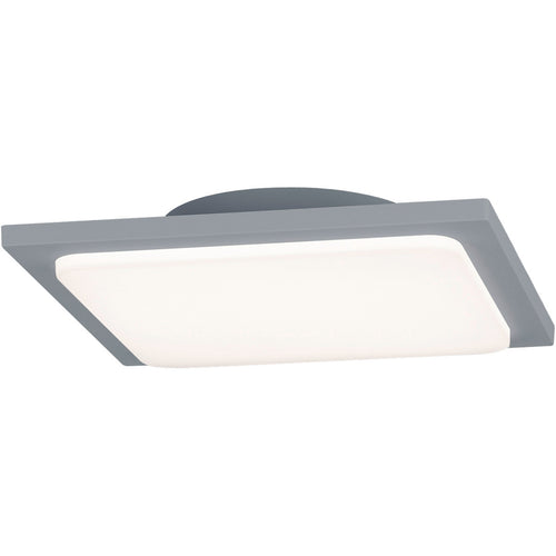 Arnsberg Trave 1 Light 10 inch Titanium and Light Grey Outdoor Flush Mount