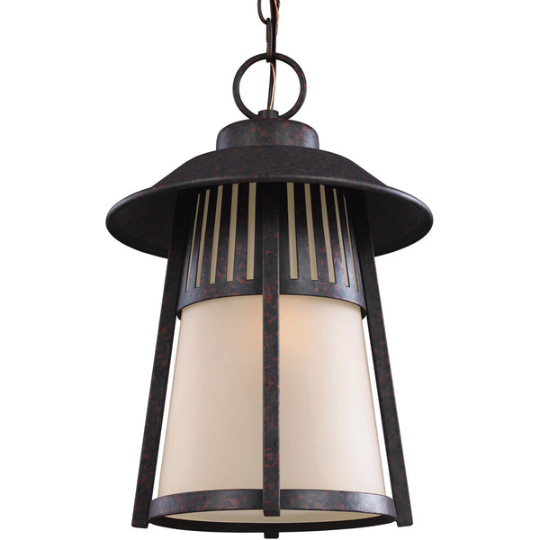 Sea Gull Lighting 6211701-746 Hamilton Heights 1 Light 11 inch Oxford Bronze Outdoor Pendant in Standard