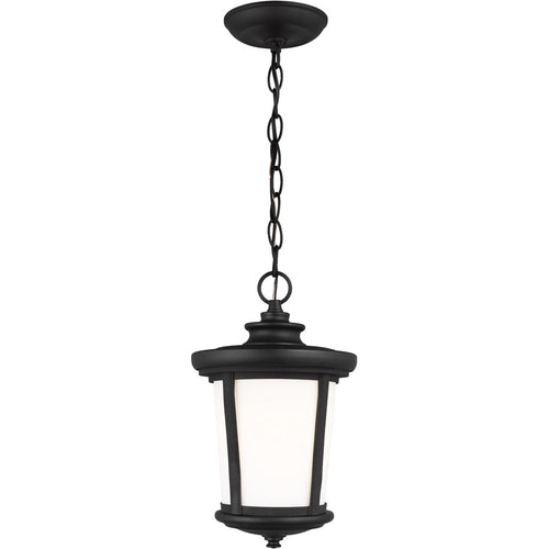 Sea Gull Lighting Eddington 1 Light 8 inch Black Outdoor Pendant