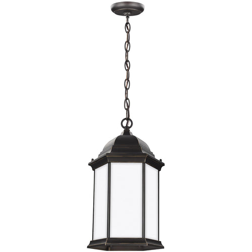 Sea Gull Lighting Sevier 1 Light 9 inch Antique Bronze Outdoor Pendant