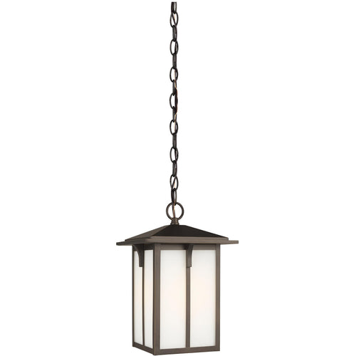 Sea Gull Lighting Tomek 1 Light 8 inch Antique Bronze Outdoor Pendant