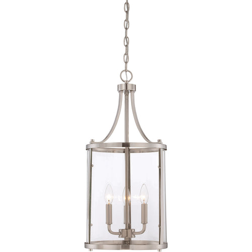 Savoy House Lighting Penrose 3 Light 12 inch Satin Nickel Lantern Small