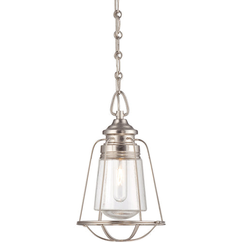 Savoy House Lighting Vintage 1 Light 8 inch Satin Nickel Outdoor Mini Pendant