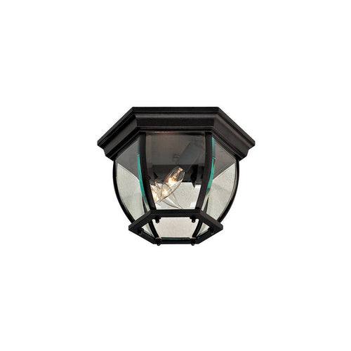 Minka-Lavery Wyndmere 3 Light 11 inch Black Outdoor Flush Mount The Great Outdoors