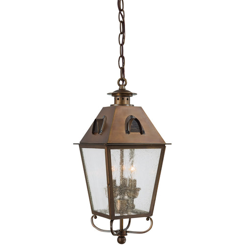 Minka-Lavery Edenshire 3 Light 8 inch English Brass Outdoor Pendant