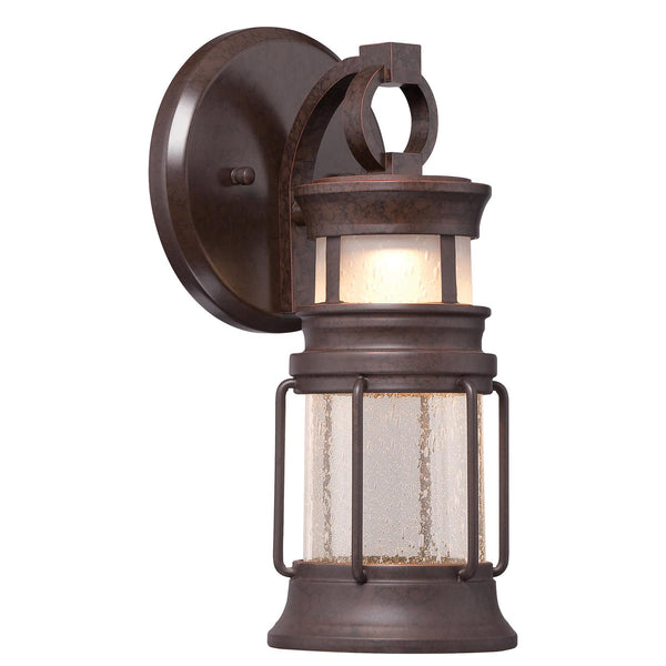 Minka-Lavery 72440-291-L Garreston Pointe LED 12 inch Architectual Bronze with Copper Highlights Outdoor Wall Light The Great Outdoors