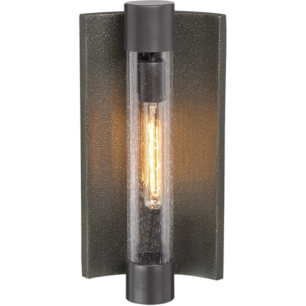 Minka-Lavery Celtic Shadow 1 Light 17 inch Textured Bronze with Silver Highlights Outdoor Wall Light in Textured Bronze and Silver The Great Outdoors