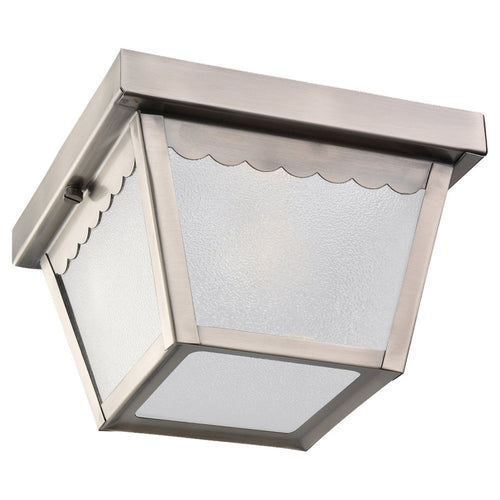 Sea Gull Lighting 75467-965 Signature 1 Light 8 inch Antique Brushed Nickel Outdoor Ceiling Fixture