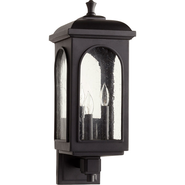 Quorum International Fuller 3 Light 8 inch Noir Outdoor Wall Lantern