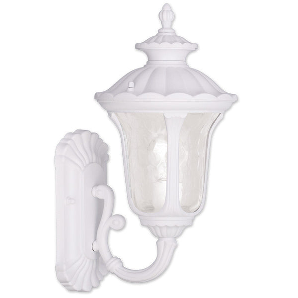 Livex Oxford 1 Light 16 inch White Outdoor Wall Lantern