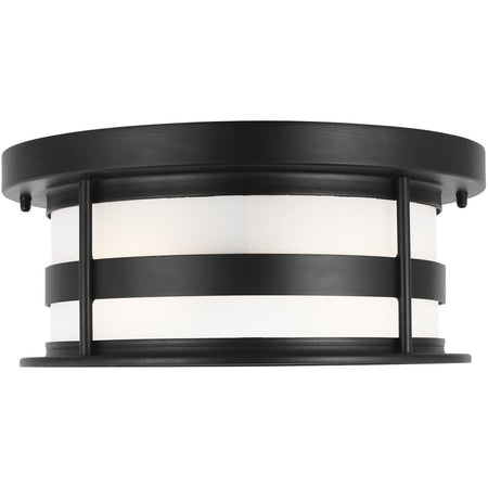 Kuzco Lighting Ridge 7 inch Gray Outdoor Flush Mount