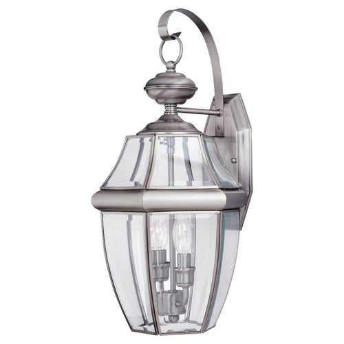 Sea Gull Lighting Lancaster 2 Light 21 inch Antique Brushed Nickel Outdoor Wall Lantern