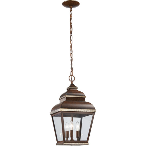 Minka-Lavery Mossoro 3 Light 10 inch Mossoro Walnut with Silver Highlights Outdoor Pendant The Great Outdoors 8264-161 - Open Box