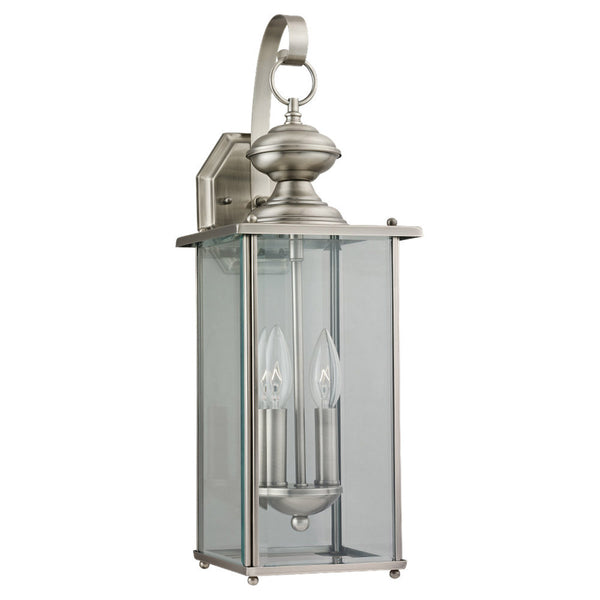 Sea Gull Lighting 8468-965 Jamestowne 2 Light 20 inch Antique Brushed Nickel Outdoor Wall Lantern