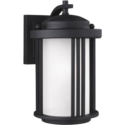 Sea Gull Lighting Crowell 1 Light 10 inch Black Outdoor Wall Lantern
