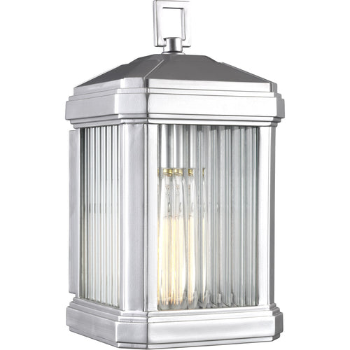 Sea Gull Lighting Gaelan 1 Light 14 inch Painted Brushed Nickel Outdoor Wall Lantern