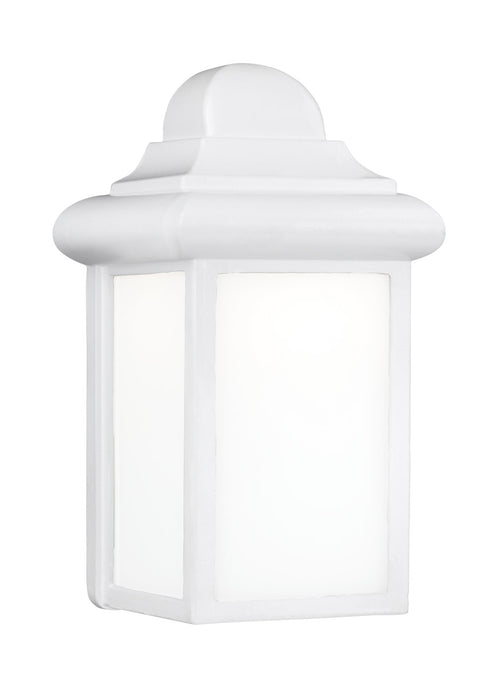 Sea Gull Lighting Mullberry Hill 1 Light 9 inch White Outdoor Wall Lantern