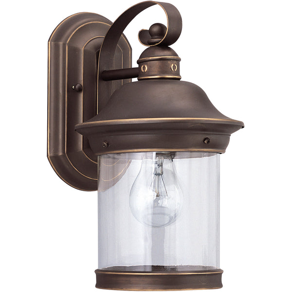 Sea Gull Lighting Hermitage 1 Light 14 inch Antique Bronze Outdoor Wall Lantern in Not Darksky Compliant