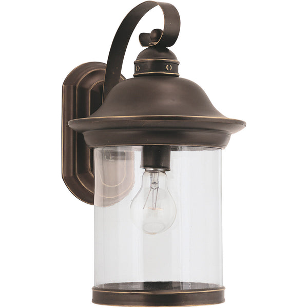 Sea Gull Lighting Hermitage 1 Light 15 inch Antique Bronze Outdoor Wall Lantern