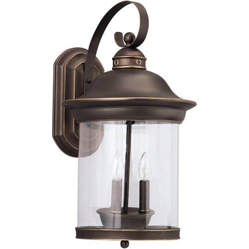 Sea Gull Lighting Hermitage 3 Light 20 inch Antique Bronze Outdoor Wall Lantern