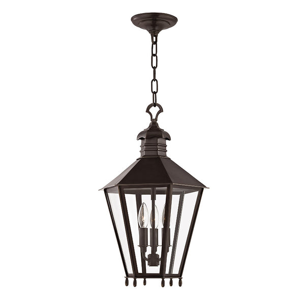 Hudson Valley Lighting Barstow 3 Light 13 inch Old Bronze Outdoor Hanging Lantern