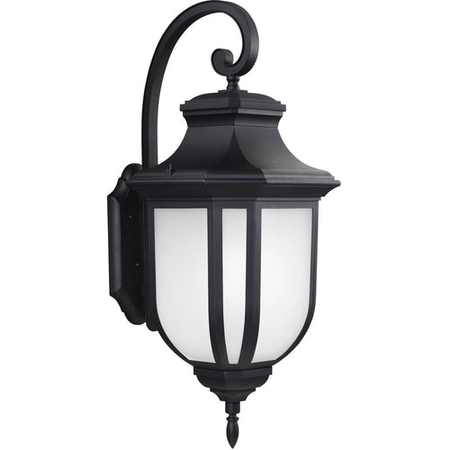 Sea Gull Lighting 8836302-12 Childress 2 Light 36 inch Black Outdoor Wall Lantern in Standard