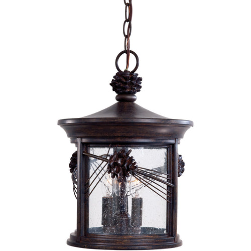 Minka-Lavery Abbey Lane 3 Light 11 inch Iron Oxide Outdoor Pendant The Great Outdoors 9154-A357 - Open Box