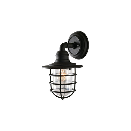 Kenroy Lighting Eli 1 Light 16 inch Black Outdoor Lantern Small