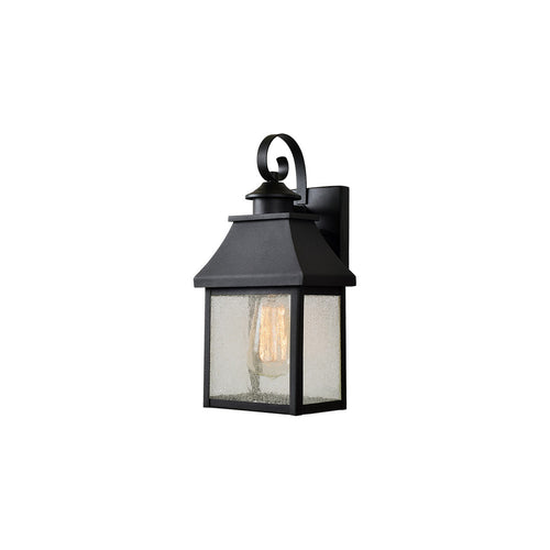 Kenroy Lighting Nelson 1 Light 12 inch Black Outdoor Lantern Medium