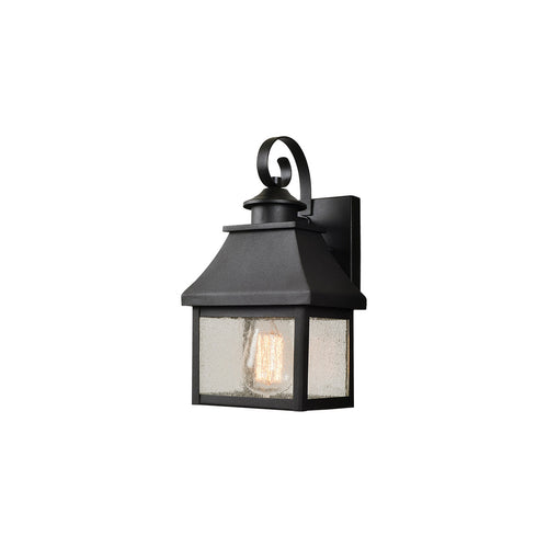 Kenroy Lighting Nelson 1 Light 9 inch Black Outdoor Lantern Small