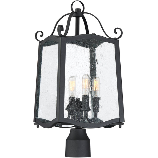 Designers Fountain Glenwood 4 Light 22 inch Black Post Lantern