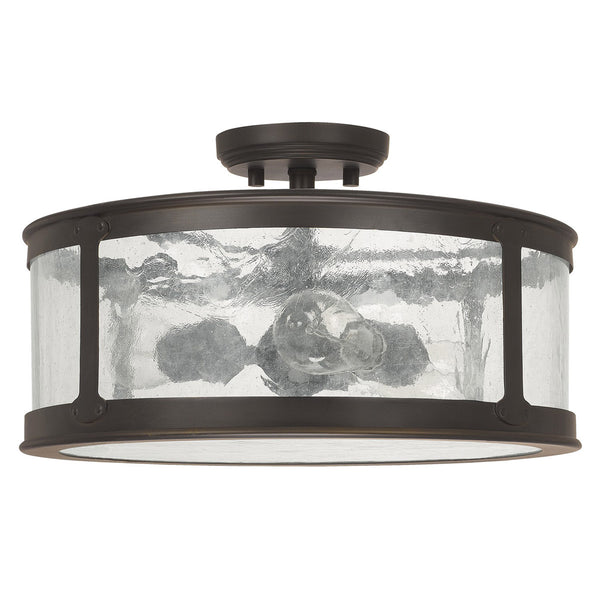 Capital Lighting Fixtures 9567OB Dylan 3 Light 16 inch Old Bronze Outdoor Semi-Flush