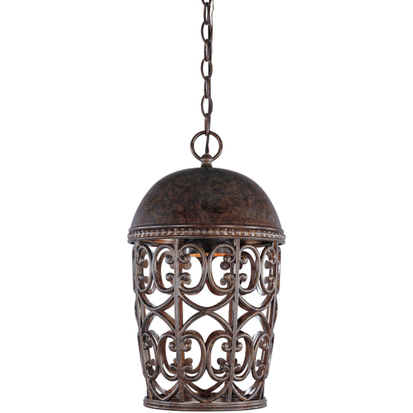 Designers Fountain Amherst 1 Light 10 inch Burnt Umber Hanging Lantern Ceiling Light