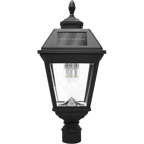 Gama Sonic GS-97B3-F Imperial 23 inch Black Solar Light with 3 Fitter""