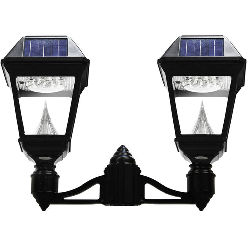 Gama Sonic Imperial II 22 inch Black Solar Light with 3 Fitter""
