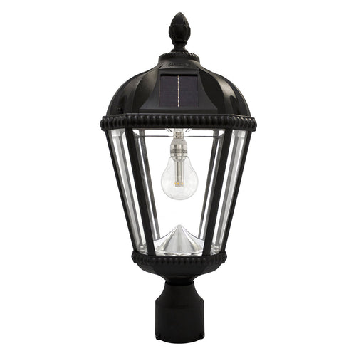 Gama Sonic Royal Bulb 18 inch Black Solar Light with 3 Fitter""