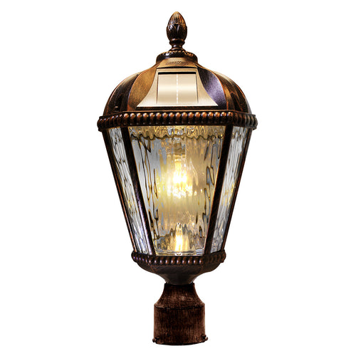 Gama Sonic GS-98B-F-BB Royal Bulb 18 inch Brushed Bronze Solar Light with 3 Fitter""