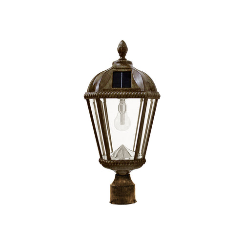 Gama Sonic Royal Bulb 18 inch Weathered Bronze Solar Light with 3 Fitter""