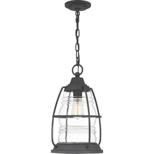 Quoizel Admiral 1 Light 10 inch Mottled Black Outdoor Hanging Lantern