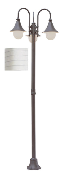 Trans Globe Lighting Santa Isabel 3 Light 86 inch White Outdoor Pole Light