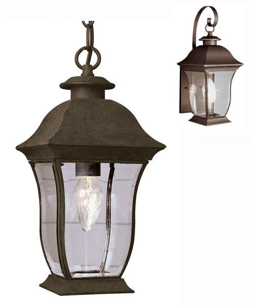 Trans Globe Lighting Signature 1 Light 7 inch Weathered Bronze Outdoor Hanging Lantern