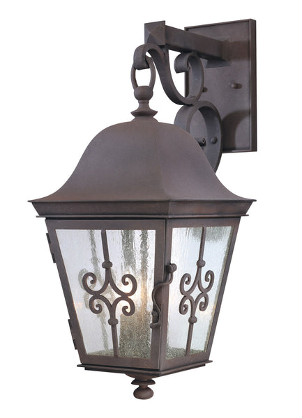 Troy-CSL Lighting Markham 3 Light 24 inch Weathered Bronze Outdoor Wall