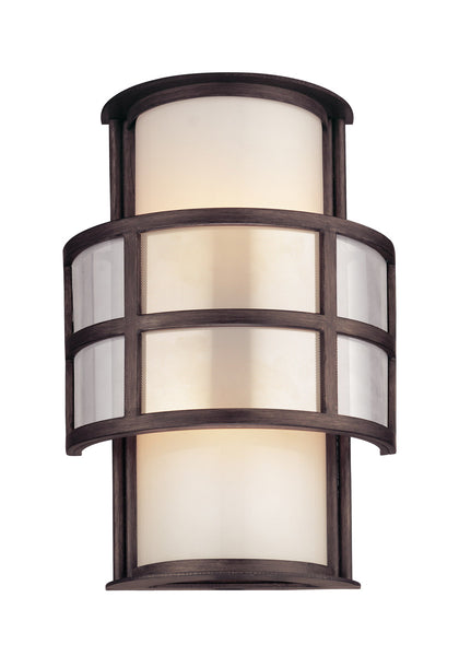 Troy-CSL Lighting Discus 2 Light 14 inch Graphite Outdoor Wall in Incandescent