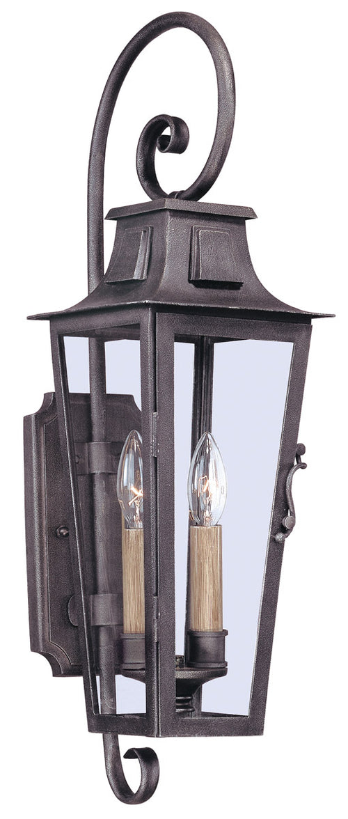 Troy-CSL Lighting Parisian Square 2 Light 24 inch Aged Pewter Outdoor Wall Lantern in Incandescent