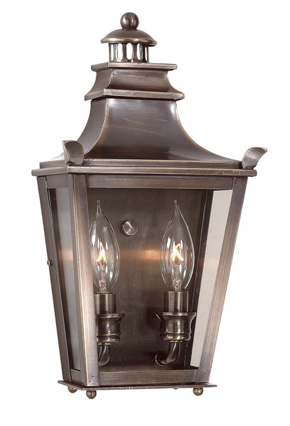 Troy-CSL Lighting Dorchester 2 Light 14 inch English Bronze Outdoor Pocket Lantern