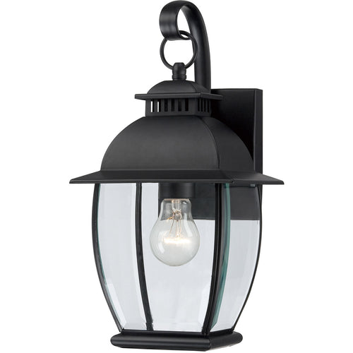 Quoizel BAN8407K Bain 1 Light 15 inch Mystic Black Outdoor Wall Lantern