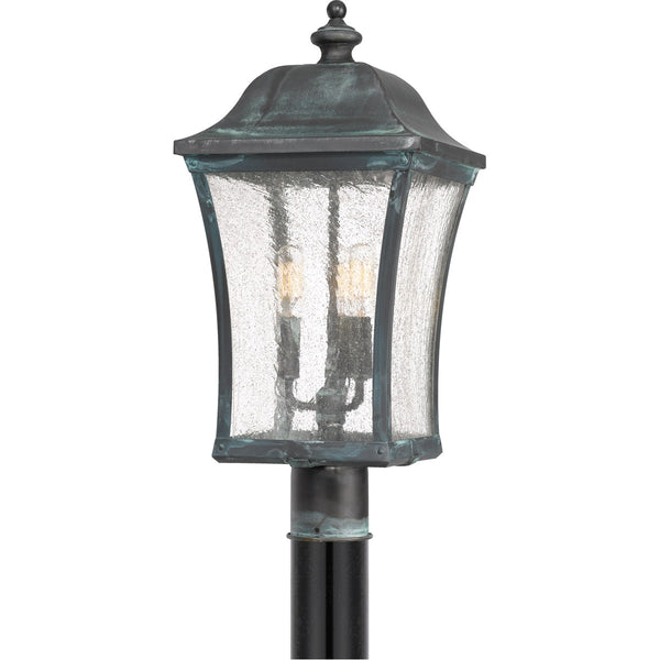 Quoizel Bardstown 3 Light 25 inch Aged Verde Outdoor Post Lantern