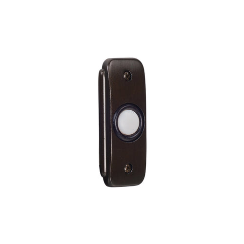 Craftmade BR2-BZ Stepped Rectangle Bronze Lighted Push Button